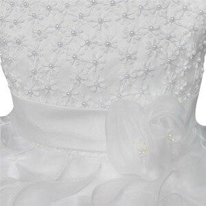 Image 5 - Yüksek Kaliteli Yeni Çiçek Kız Parti Nedime Pageant Prenses Elbise Küçük Kızlar Için Hediye Organze Ilk Cemaat Elbiseler