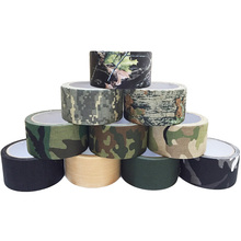 5cm x 5m Outdoor Camo Camouflage Stealth glue Tape Durable Self adhesive Cohesive for Camping Hunting Shooting Tool Photography