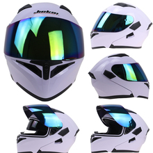 2 glass fitted motorbike helmet and 4 color shield color available flip up helmet removable and washable liner DOT ECE approve