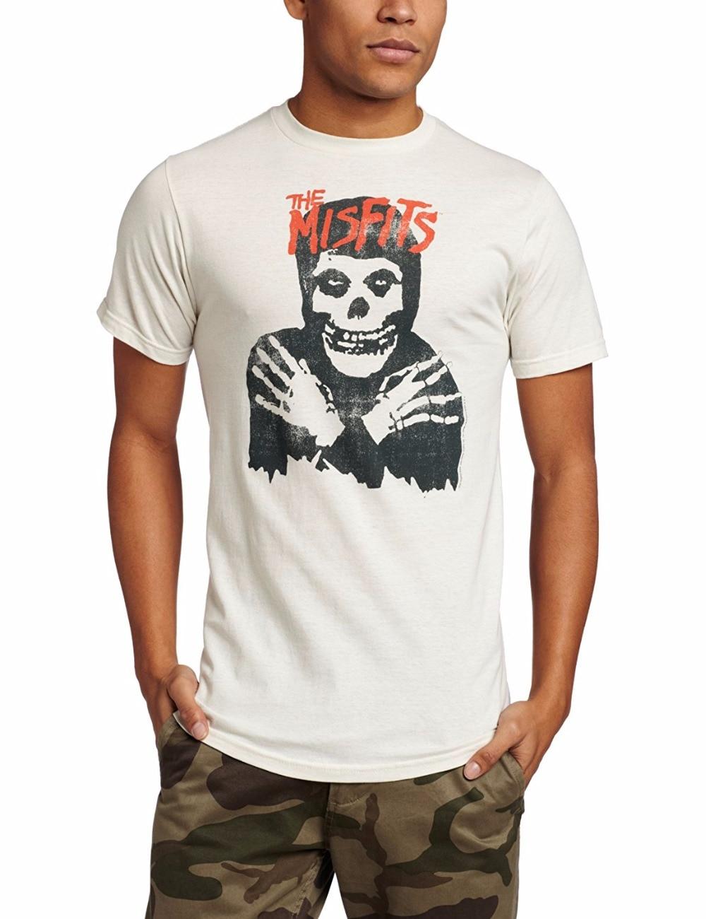 Casual Shirt Tee Short Sleeve Printed O-Neck Mens Merchandising Mens Misfits Classic Skull T-Shirt Tee
