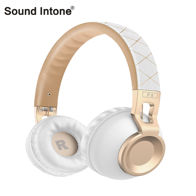 Original Sound Intone P8 Bass Wireless Headphones Bluetooth headset Folding portable headphone Support TF card for Computer Mp3 ks 508 mp3 player stereo headset headphones w tf card slot fm black