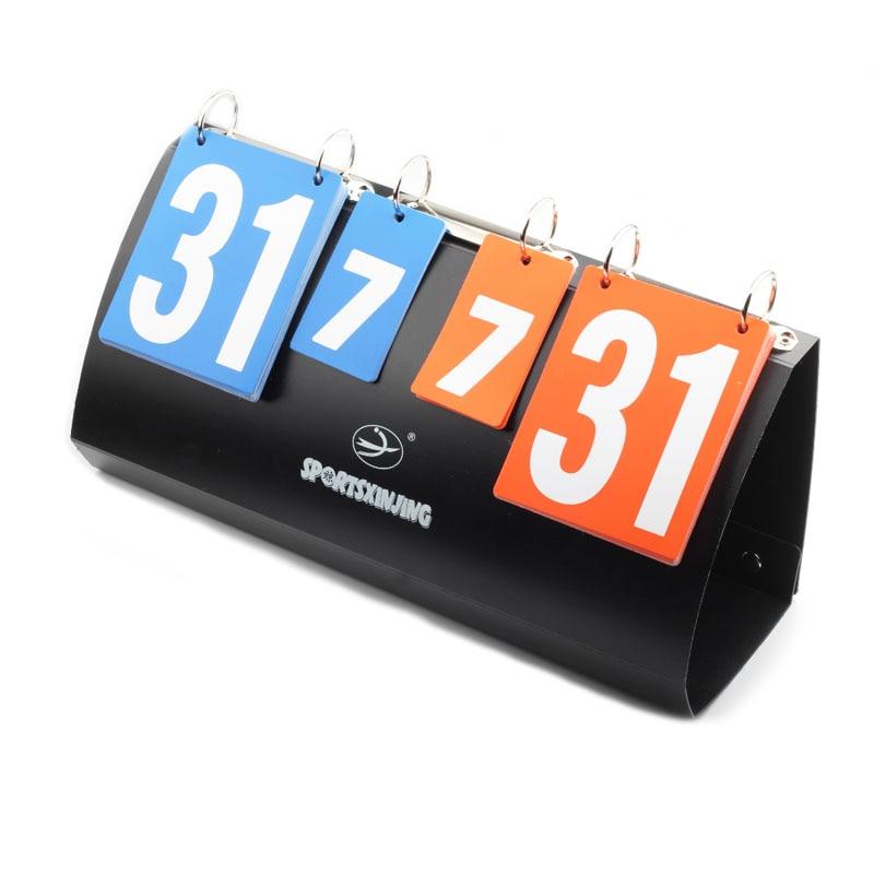 4 Digit Scoreboard Basketball Portable Folding Football Score Board Volleyball Handball Table Tennis Sports Score Boards