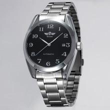 Deportivo de lujo de Los Hombres Automático Mecánico Militar Reloj de Los Hombres Completa de Acero Inoxidable Calendario Reloj LL