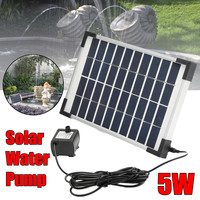 5W 500L/H Micro Solar Energy Fountain Pump Mini Water Pump For Pond Fountain Rockery Fountain Garden Fountain Garden Decor