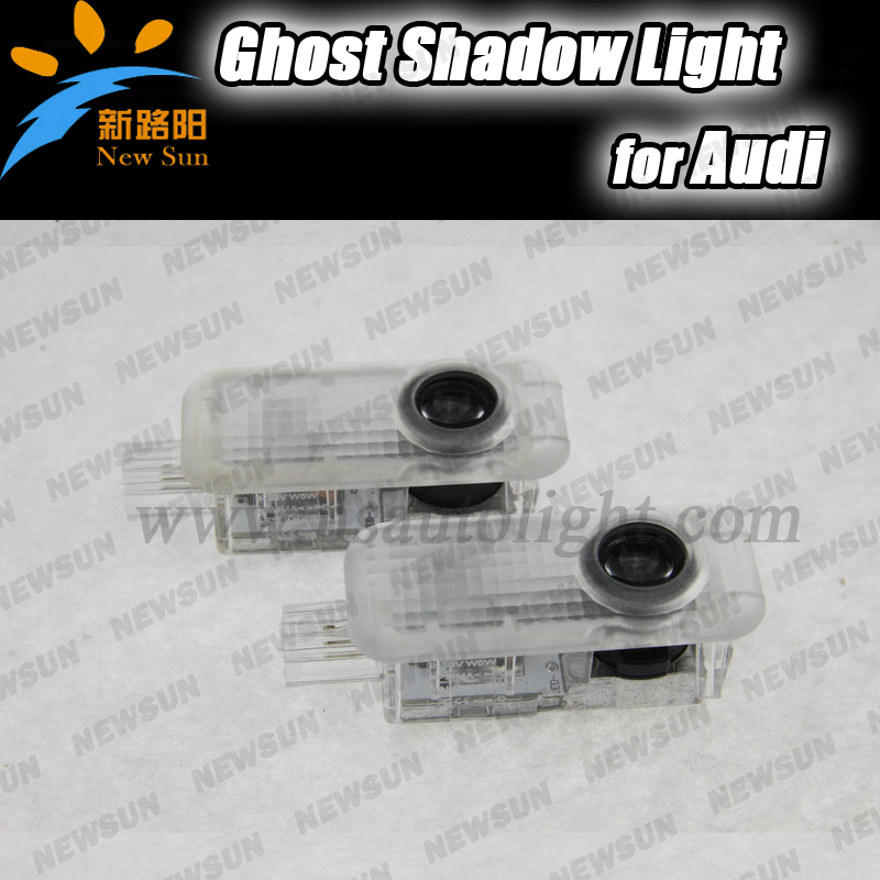 car led courtesy door laser shadow Emblem logo light Welcome Ghost Shadow Projecting step ground Lights for Audi A8 A7 Q3 A6L car door welcome laser projector logo door ghost shadow led light for vw volkswagen tiguan golf 5 6 7 passat b7 eos etc