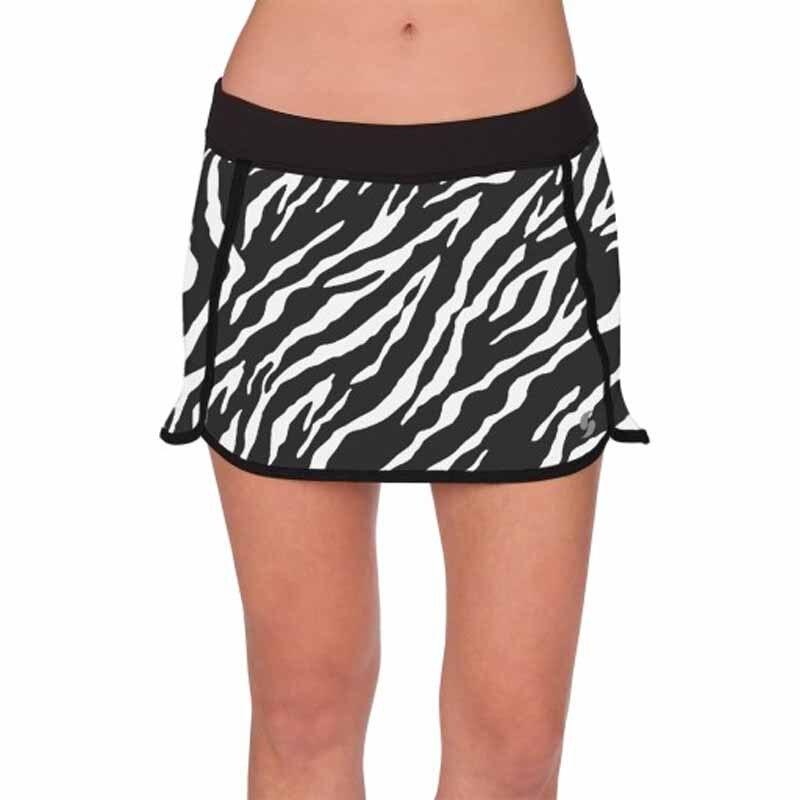 2 in 1 Women Tennis Skirts Zebra stripe Pattern New Breathable Double Layer Style Lady Sport Skirts Female Tennis Skorts