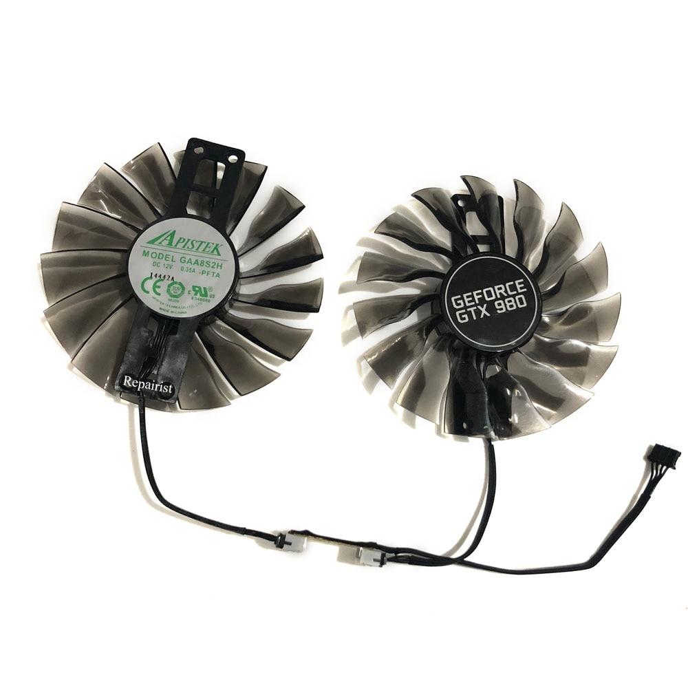 2pcs/set Palit gtx1070 gtx1080Ti GPU VGA Alternative Cooler Fan For GeForce GTX1080 Ti GTX 1070/1080 Grahics Card As Repalcement fd10010h12s gpu vga card cooler fan for palit gtx 1080ti gtx1080ti gamerock premium edition graphics video card cooling