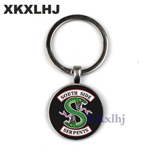XKXLHJ New Fashion Riverdale Keychain Personalized Photo Glass Convex Couple Keychain Pendant Ladies Men's Jewelry(China)