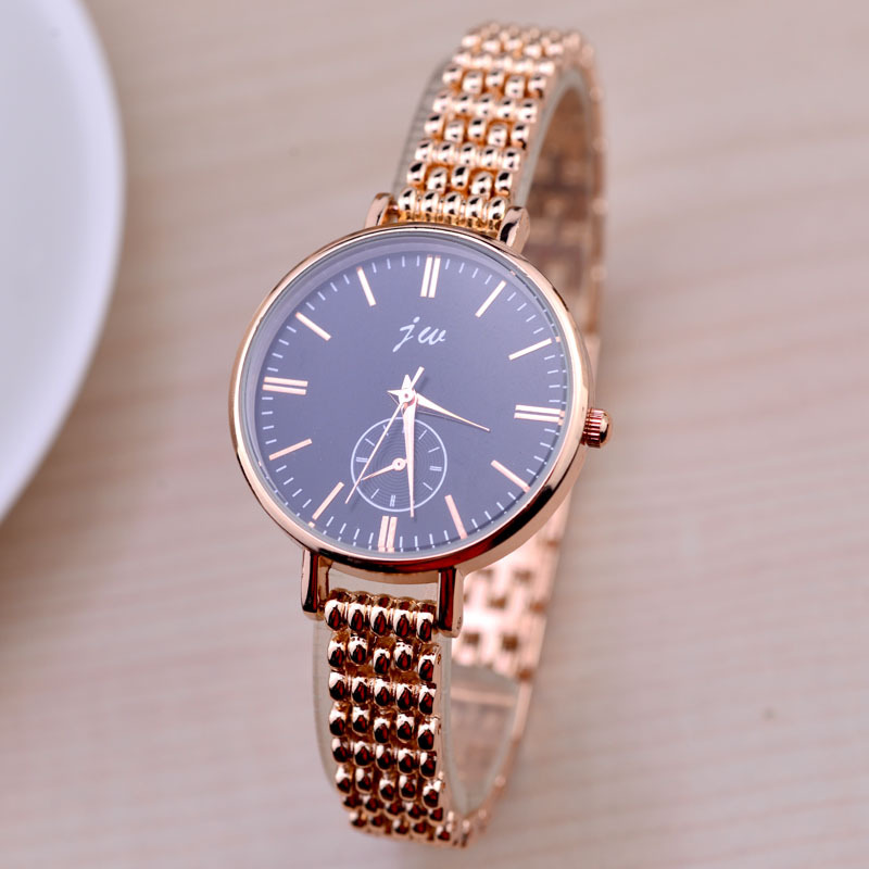 Women Rose Gold Watch Stainless Steel Mesh Watch For Ladies Simple Waterproof Wristwatch Japanese Quartz Movement Montres Femme