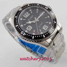 BLIGER Casual Date Watches ceramic bezel Black Dial Top Brand Luxury Military Wrist Watch Sapphire Fashion Automatic Wristwatch