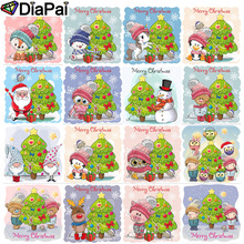 DIAPAI Diamond Painting 5D DIY Full Square/Round Drill Christmas tree animal 3D Embroidery Cross Stitch Decor Gift