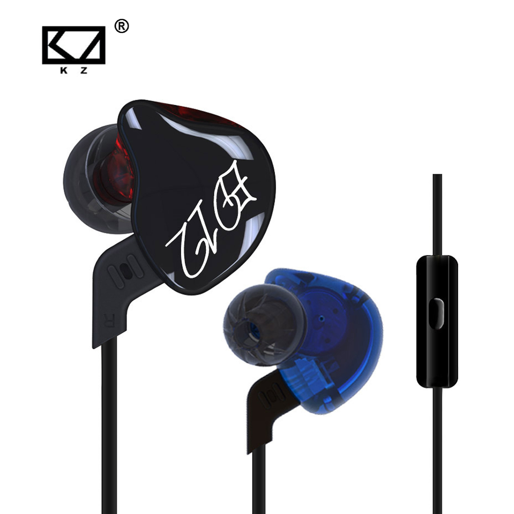 KZ ED12 Custom Style Earphone Detachable Cable In Ear Audio Monitors Noise Isolating HiFi Music Sports Earbuds With Microphone a  dhl free 2pcs black white m6 pro universal 3 5mm wired in ear earphone noise isolating musician monitors brand new headphones