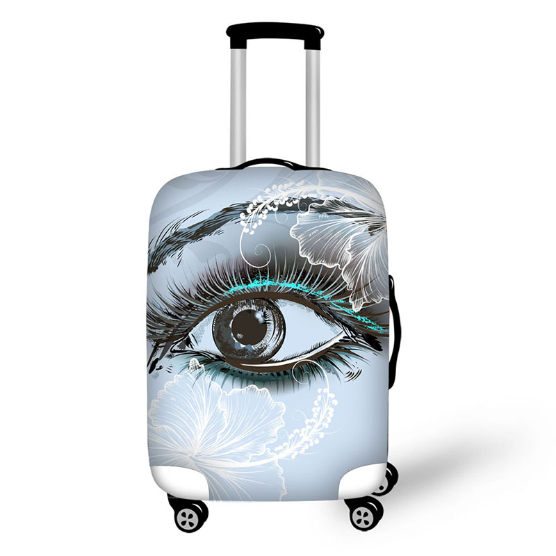 Eyes Print Travel Accessories Suitcase Protective Covers 18-32 Inch Elastic Luggage Dust Cover Case Stretchable