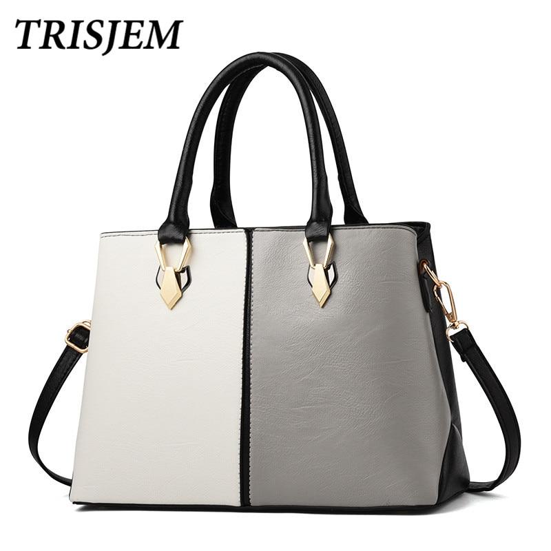 2018 Women High Quality Pu Leather Handbags Female Fashion Patchwork Women Crossbody Bag For Girl Sac a Main Femme Bolso