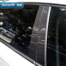 Fibra de carbono janela do carro b-pilares adesivos de carro guarnição cobre estilo do carro para audi a3 a4 a6 q5 2009-2018 série acessórios