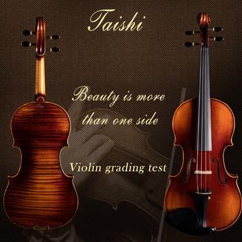Taishi Professional 4 4 skrzypce A Strad model 4 4 skrzypce violino16-y old Rich clear! Bezpłatny futerał łuk kalafonia i wysyłka tanie i dobre opinie NoEnName_Null zrobione ze świerku Other Ciemne drewno zrobione z hebanu TV003 spruce Z klonu