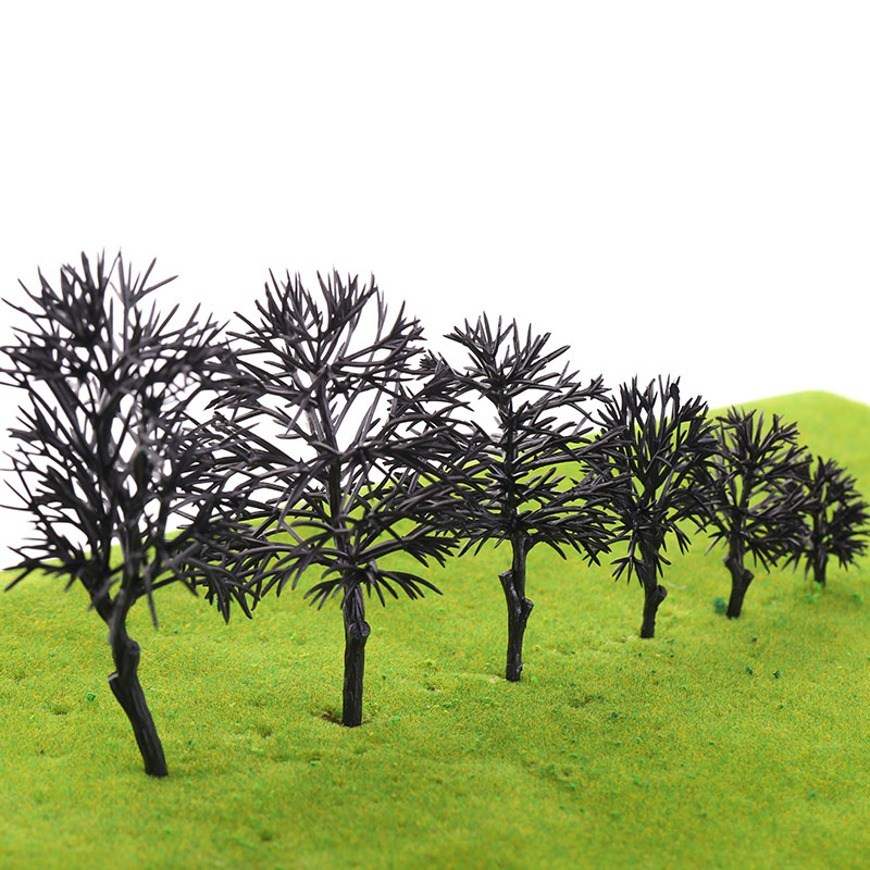 10Pcs  Plastic Model Tree Trunk Without Leaves For Miniature Ho Scale Train Railway Railrow Railroad Wargame Layout Diorama