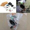 Frete Grátis Nova Transparente Kit Com Caso PC Speaker Speaker Box Amplificador LM386 KIT DIY com caixa de acrílico