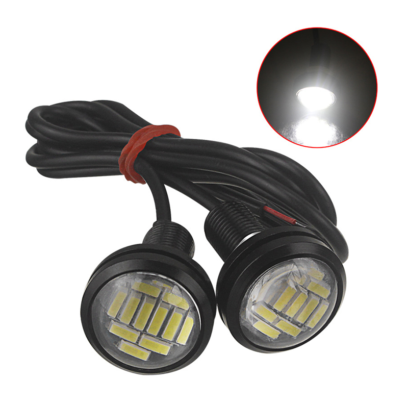 2pcs White 12V 15W LED DRL Daytime Running Backup Light Eagle Eye Motor Car Lamp
