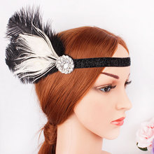 New bridal ball fringe headband diamond-encrusted retro elastic