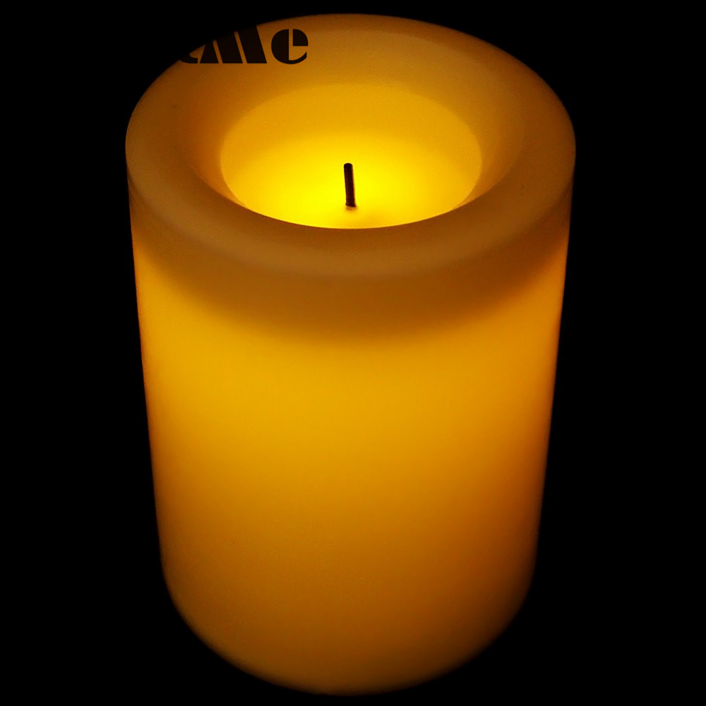 ded22d3926 Mi-21 parpadeo sin llama 3 x AAA LED atmósfera romántica electrónica de la  vela para la boda decoración de la fiesta de cumpleaños