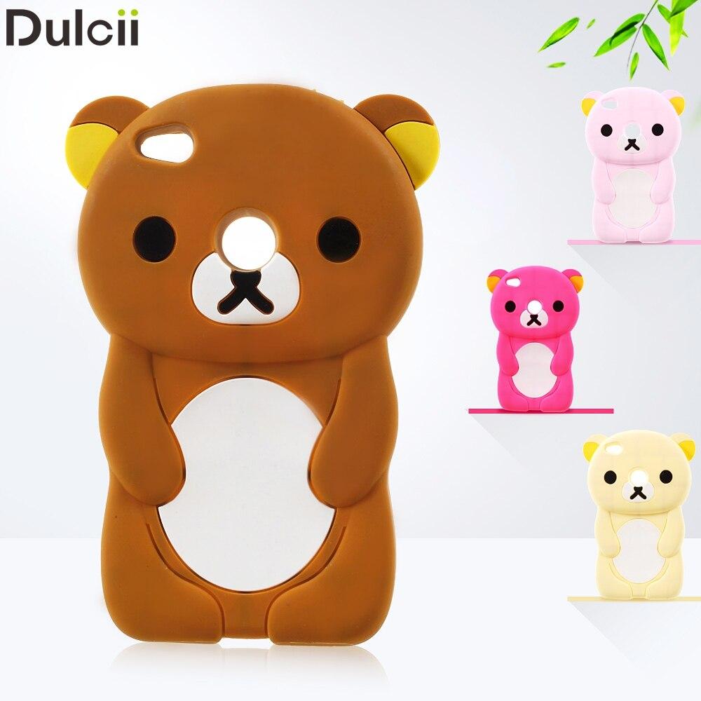Dulcii per Huawei P8 Lite (2017)/Honor 8 Lite Cassa Del Telefono Sveglio 3D Rilakkuma Soft Cover In Silicone per Huawei P 8 Lite Fundas Capa