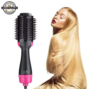 Image 3 - 1000W צעד אחד מייבש שיער מייבש מברשת 2 ב 1 שלילי יון שיער מסלסל מחליק חשמלי לפוצץ מייבש מסרק שיער מברשת styler