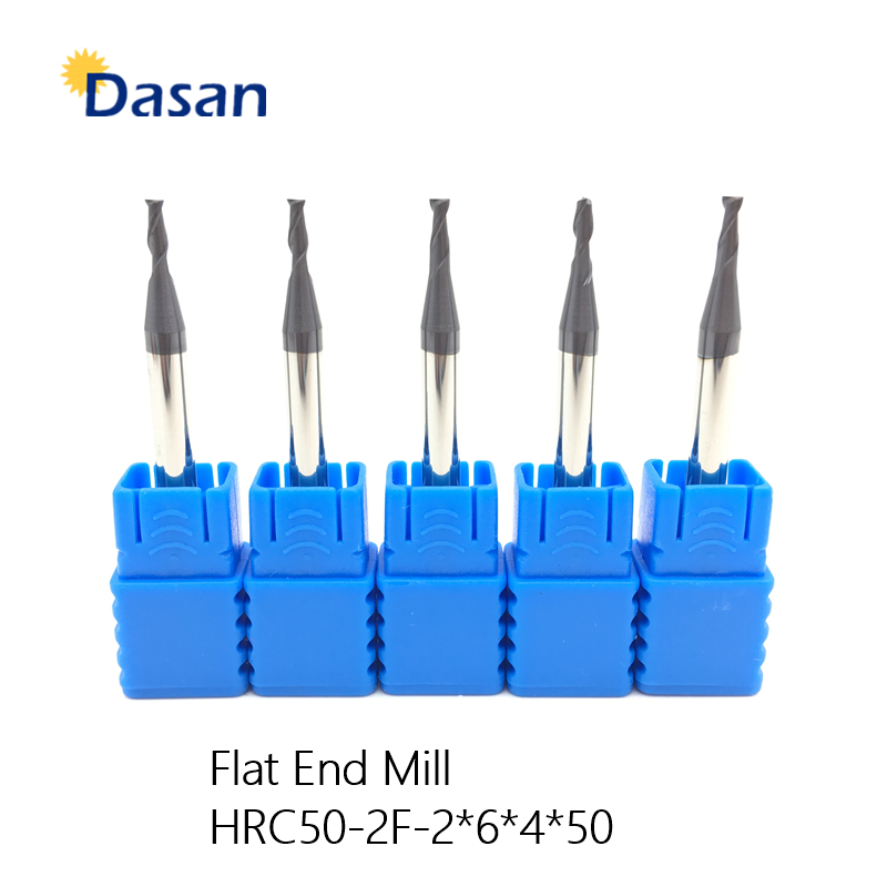 1PCS HRC50 3mm Solid Carbide Endmill D3X8LXD4X50L 2 Flute Standard Length Side milling Slotting Profiling face mill