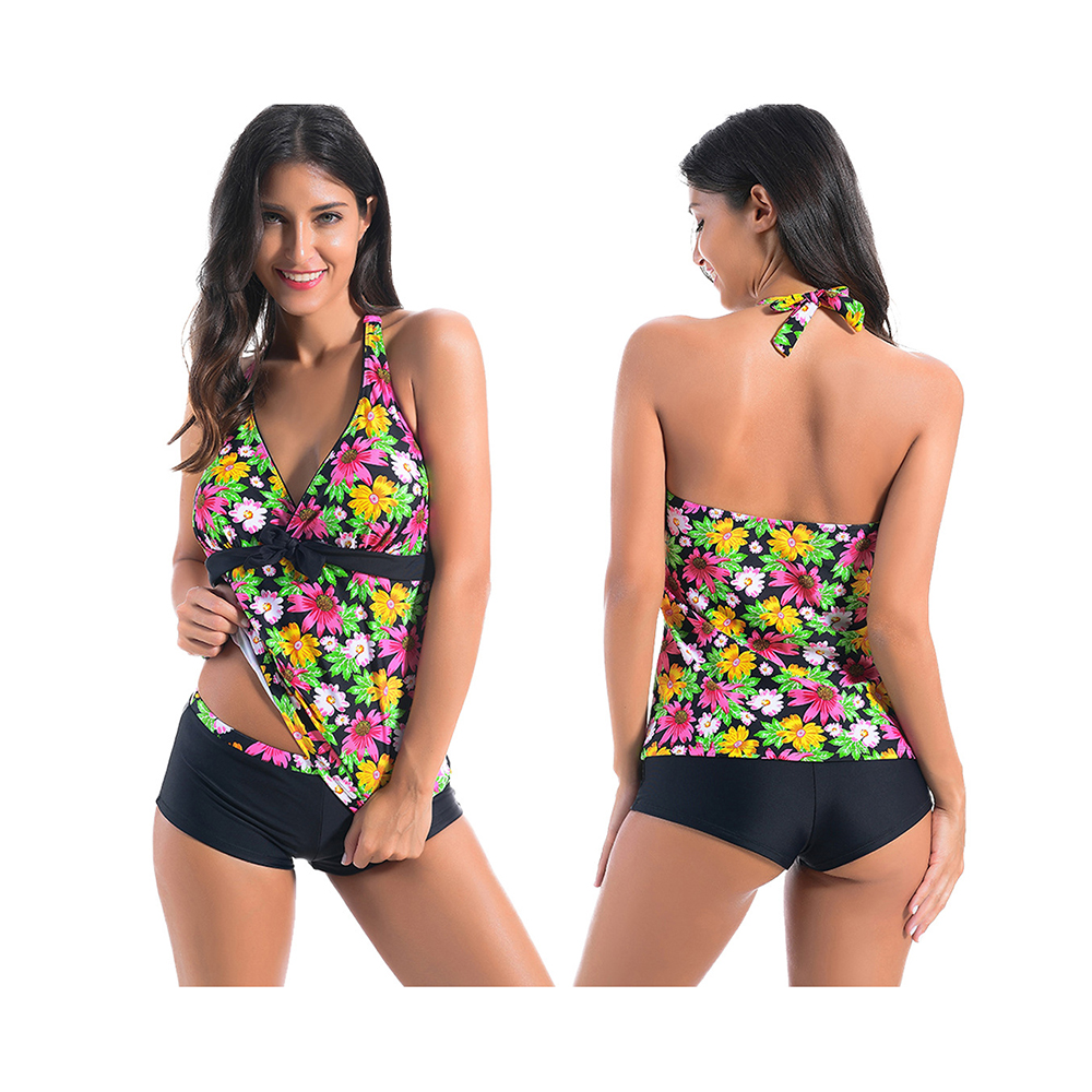 Swimsuit One Piece Sexy Push up floral Swimwear 2018 Shorts High Waist Beach Clothes Girls Women Bathing Suit Feminie Large size cheap sexy bathing suits swimwear one piece female may beach girls one piece swimsuit 2017 korea black ladies classic high waist