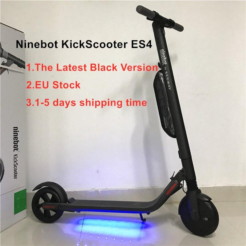 Nova Ninebot KickScooter ES4/ES2 V1.3 Inteligente Kick Scooter Elétrico Dobrável Leve Hover Board Skate Elétrico Com APP