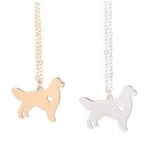 Золото и серебро 1 шт. золотой ретривер Ожерелье Подвеска для собаки породы серебро Шарм Домашние животные щенок принять любителей собак