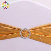 ZJFC 50Pcs/Lot Wedding Chair Cover Sash Bands Spandex Chair Sashes Chair Cover with Bows Banquet Party Birthday Chair Decor