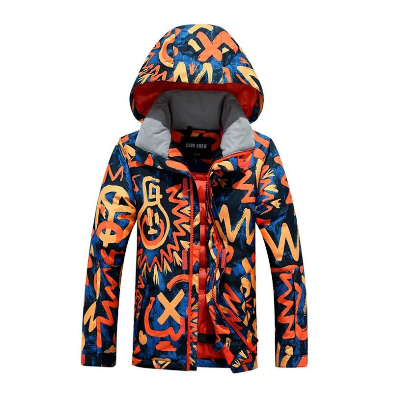 2016 Winter Boys Snowboard Ski Suit Waterproof Kids Snow Ski Jacket Ski Pants thermal Chilred Ski Clothing -30 degree fl ski gloves snowboard