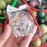 Natural clear quartz crystal ball met mooie bewolkt 4-5 cm healing crystal bol verdrijven negatieve energie fengshui bal