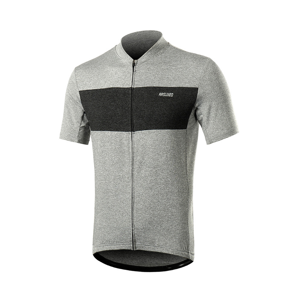 ARSUXEO Summer Men's Cycling Jersey Short Sleeve Breathable 2019 Pro Team Road Mountain Bike Bicycle Shirt MTB Downhill Jerseys