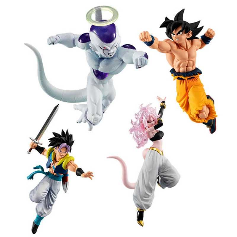 WSTXBD Original BANDAI Styling Super Dragon Ball GOKU VS 10 Freeza Trunks Android NO.19 21 Figura Brinquedos Brinquedos Bonecas Figurals