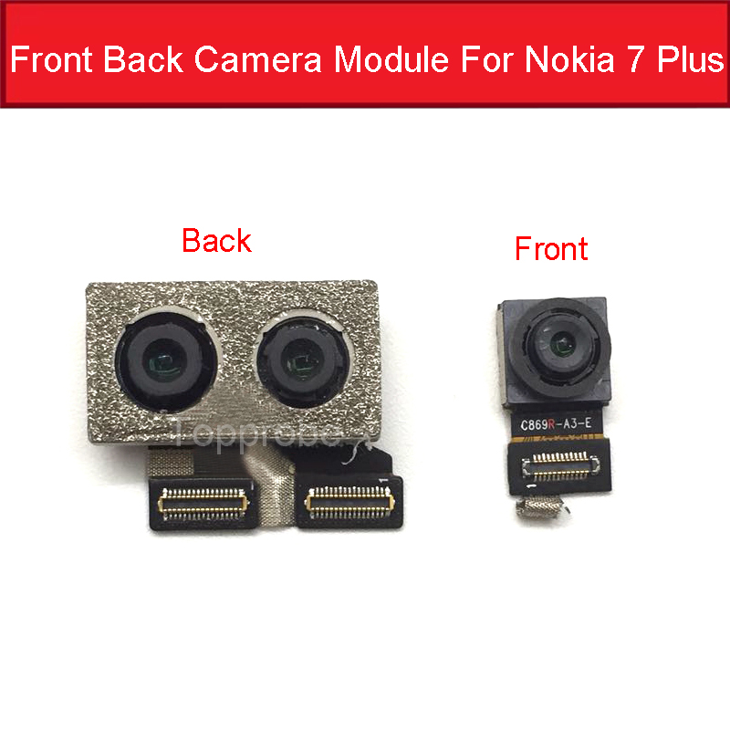 Big Back Camera For Nokia 7 Plus 7Plus 7+ TA-1046 TA-1055 TA-1062 6 In Back Main Camera With Flex Ribbon Cable Replacement