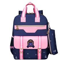 Дети школьные сумки детей рюкзаки водонепроницаемый нейлон ортопедические девушки мешок школы печать рюкзак книга сумка школьные