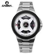 Casima мужские часы из нержавеющей стали кварцевые часы мода свободного покроя простой наручные часы водонепроницаемые 50 м часы # 8208