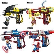 Legoings Guns Marvel Avengers Infinity Wars Iron Man Spiderman Batman Model Building Blocks Bricks Toys Gun
