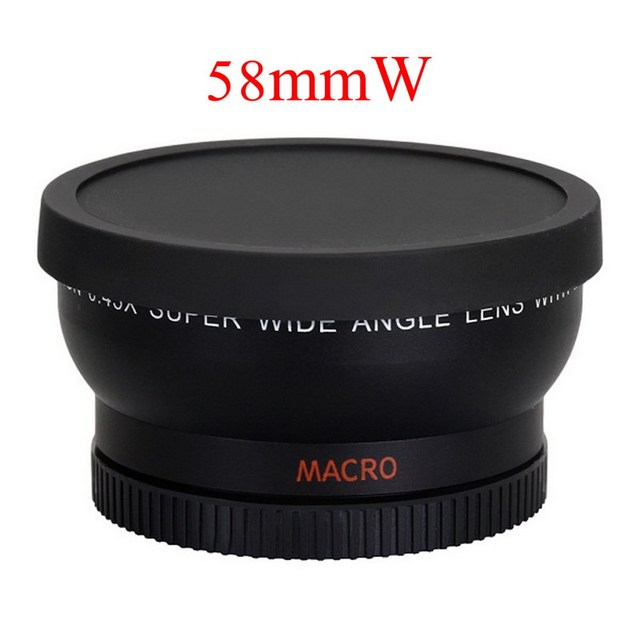 58mm 0.45x Wide Angle Lens Camera Macro Lens for Canon EOS 1000D 1100D 500D Rebel T1i T2i T3i 58mm Filter Camera