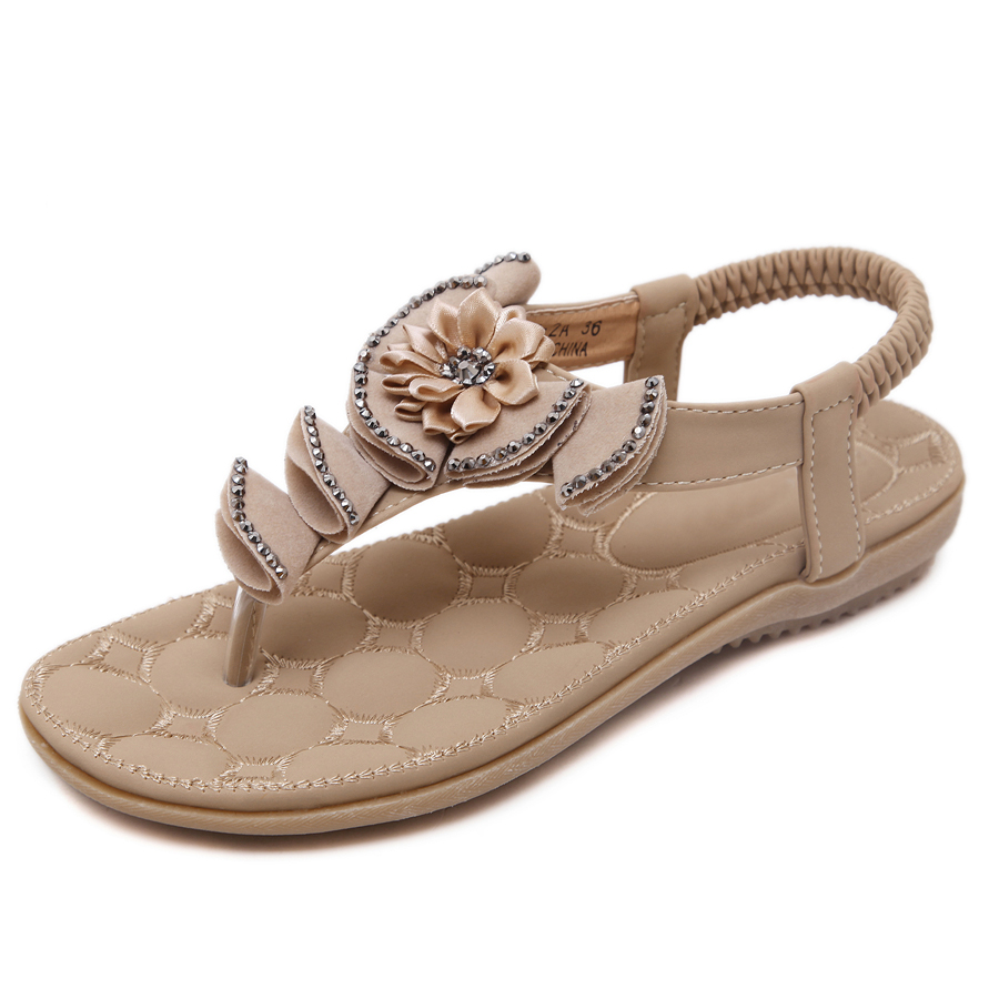 Women's sandals with bling - Summer Sandals Bling Rhinestone Flats Women Platform Wedges Sandals Fashion Flip Flops Comfortable Shoes Woman W0116