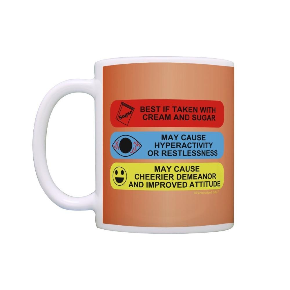 Ceramic Coffee Tea Mug Cup 11oz White Prescription Bottle Personalized New