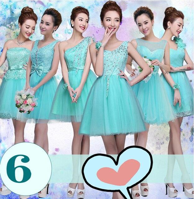 Vestidos de fiesta color verde azulado