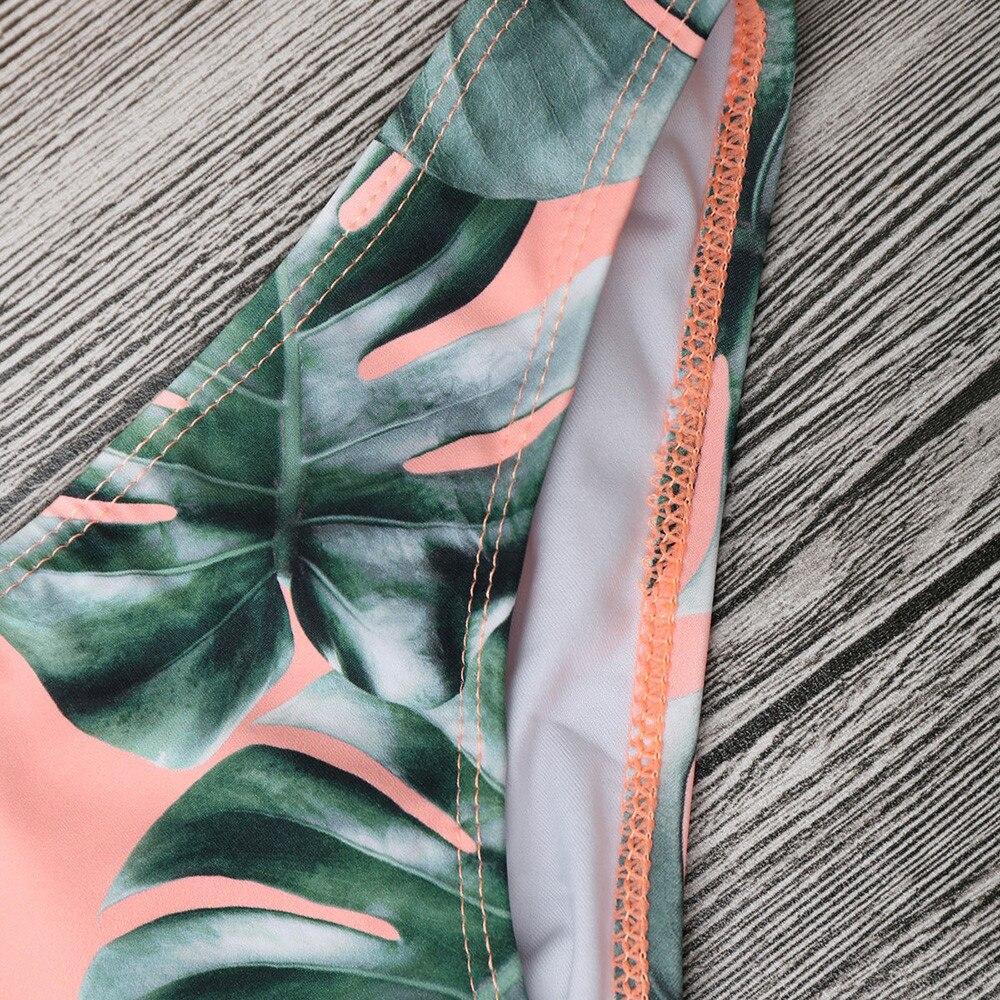 HTB16iJUaUzrK1RjSspmq6AOdFXas Women's Swimming Suit Sexy Bikini Swimsuit Women Swimwear Bikini Set Print Leaves Push-Up Padded Bathing Swimsuit Beachwear