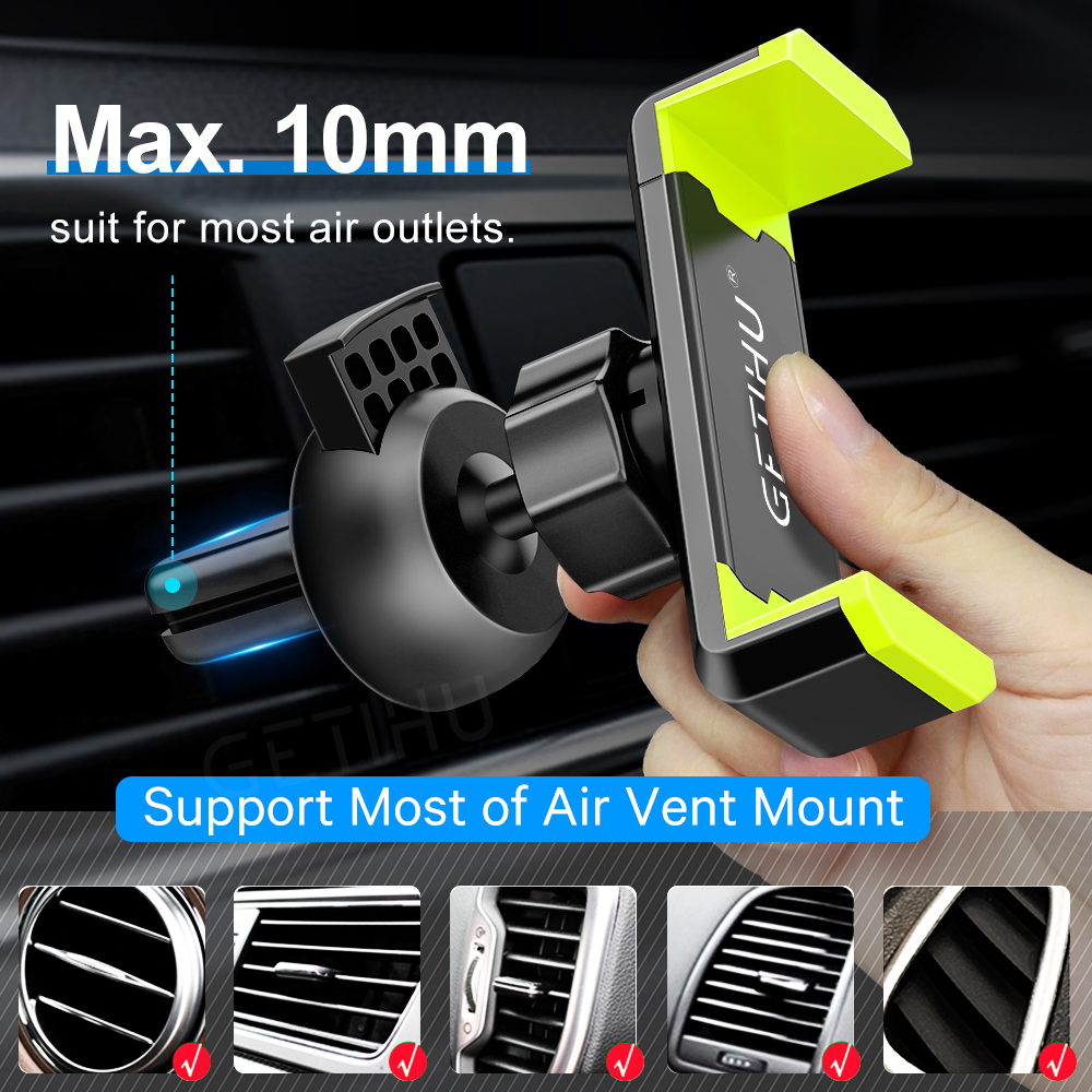 Image 3 - Car Phone Holder for IPhone X XS Max 8 7 6 Samsung 360 Degree Support Mobile Air Vent Mount Car Holder Phone Stand In Car-in Universal Car Bracket from Automobiles & Motorcycles