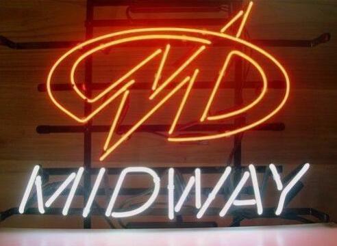 Custom Midway Arcade Game Room Glass Neon Light Sign Beer BarCustom Midway Arcade Game Room Glass Neon Light Sign Beer Bar