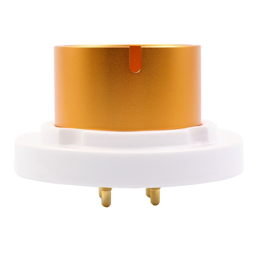 EIZZ 2PCS High Quality 4PIN Ceramic Jumbo Chassis Mount Tube Socket For HIFI DIY 845 805 FU-5 810 211 Vacuum Tube 2pcs ceramic tube socket gzc7 c g tablet 7 pin golden foot for 6c33 fu29 fu19 fu32 fu30