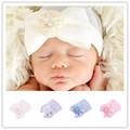 Christmas gift Newborn Baby Cap Striped Soft Cotton Hospital Hat Pretty Bowknot Flower  Beanies girl caps hats accessories