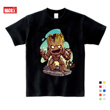 Baby I Am Groot T Shirt For Kids Summer Short Sleeve Tee Tops Clothes Children Funny T-shirts Boy Girls Cartoon printing Top стоимость